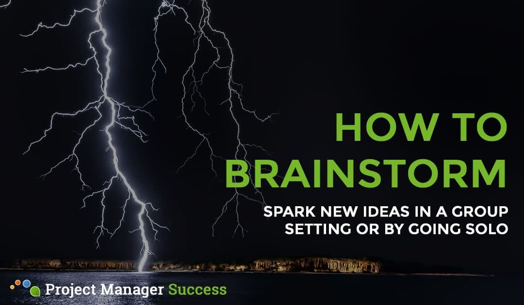 How to Brainstorm New Ideas