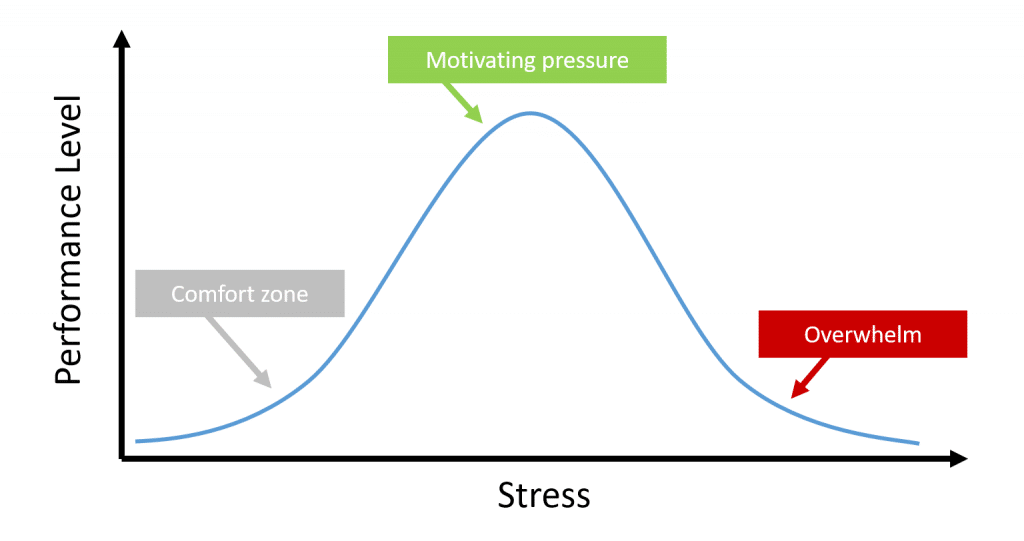 Finding the right amount of project manager stress
