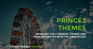 What are the 7 PRINCE2 Themes and how do they fit with the Principles