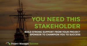 Build strong support from your project sponsor to champion you to success