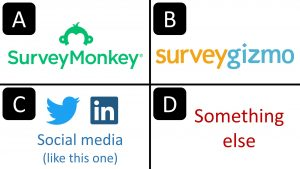 SurveyMonkey vs SurveyGizmo vs Social Media Surveys vs Something else